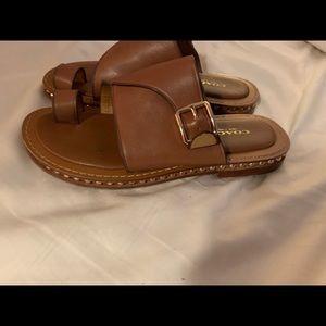 Coach tan sandals